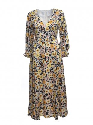 FIELD OF FLOWERS Dress in Silk Satin by Kelly Love / Dresses | Young British Designers