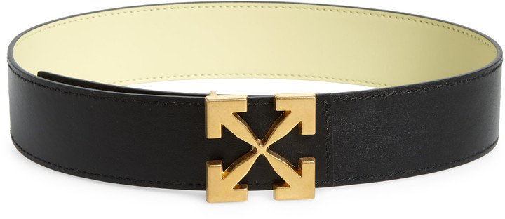 Arrow Buckle Leather Belt
