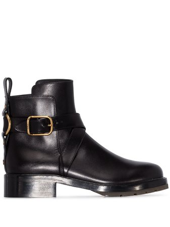 Chloé Buckled Ankle Boots