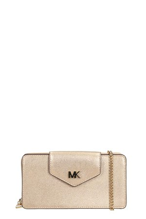 Michael Kors Gold Leather Phone Bag Xbody