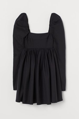 Wide-skirt Dress - Black - Ladies | H&M US