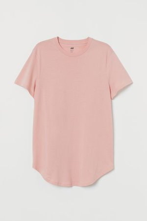 Long Fit T-shirt - Dusky pink - For All | H&M CA