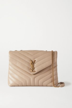 Loulou Medium Quilted Leather Shoulder Bag - Beige