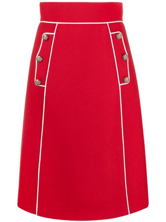 Dolce & Gabbana contrast-trim High Waist Skirt - Farfetch