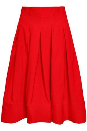 Carly pleated twill skirt | KHAITE
