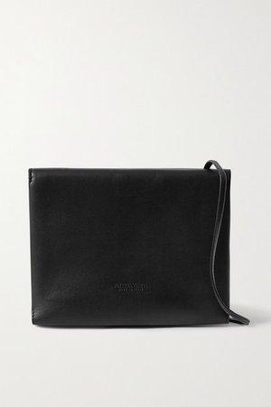 Trio Leather Shoulder Bag - Black