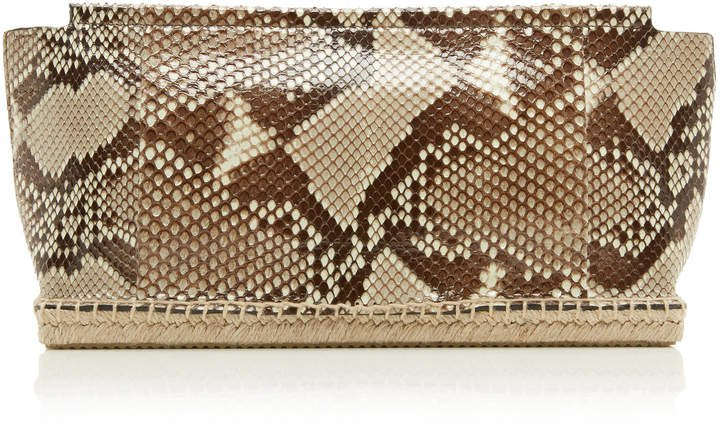 Altuzarra Espadrille Python Evening Clutch