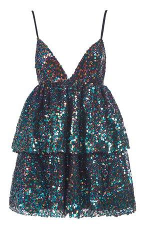 Lirika Matoshi Multi Disco Mini Dress
