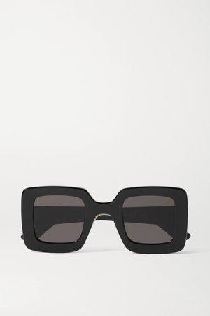 Black Square-frame acetate sunglasses   Gucci   NET-A-PORTER