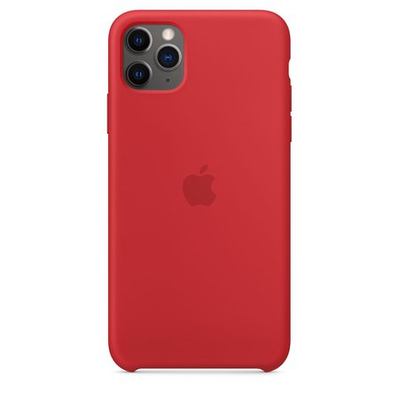 iPhone 11 Pro Max Silicone Case - Red - Apple