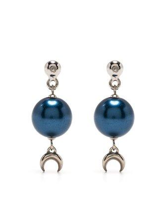 Marine Serre moon drop earrings - FARFETCH