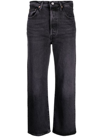Levi's Ribcage high-rise Straight Jeans - Farfetch
