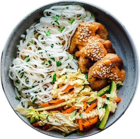 asian burger bowl