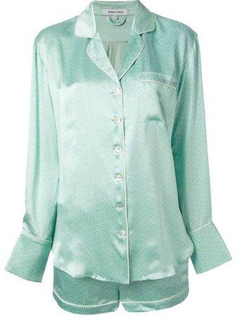 OLIVIA VON HALLE 'Alba Rita' Printed Pyjama Set