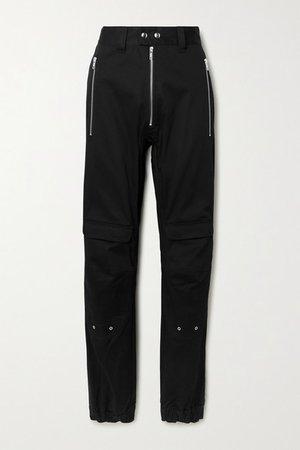 Yolanda Cotton-blend Twill Cargo Pants - Black