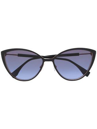 Fendi Eyewear cat-eye Logo Sunglasses - Farfetch