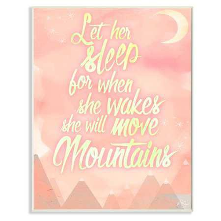 The Stupell Home Decor Collection Let Her Sleep Pink Wall Plaque Art - Walmart.com
