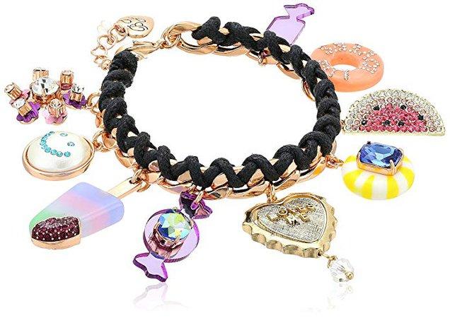 Amazon.com: Betsey Johnson Multi-Candy Charm Bracelet: Gateway