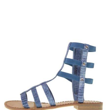 Blue Gladiator Sandals