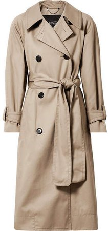 Oversized Cotton-twill Trench Coat - Beige