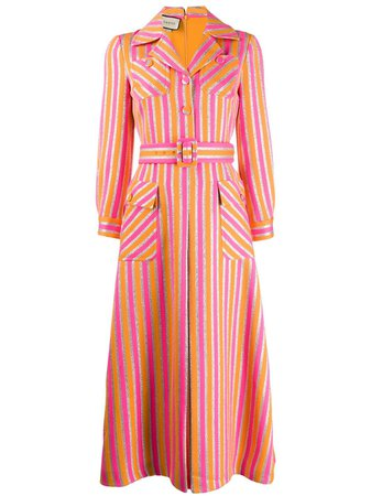 Pink Gucci Striped Shirt Dress | Farfetch.com