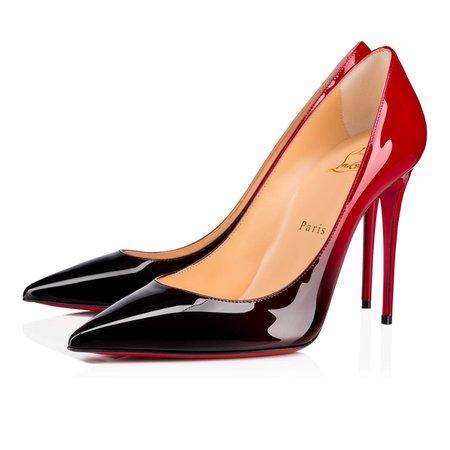 KATE 100 Black/Red Patent calfskin - Women Shoes - Christian Louboutin