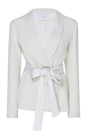Michelle Self-Belted Crepe Blazer by Racil | Moda Operandi