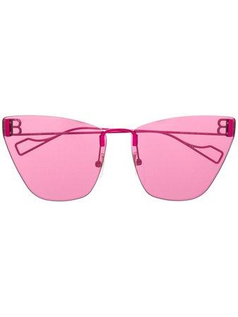 Balenciaga Eyewear Light Cat Sunglasses - Farfetch