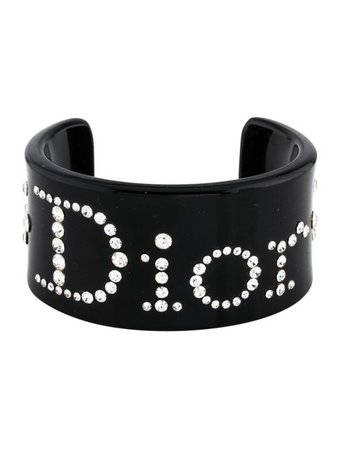 Christian Dior Resin Studded Logo Cuff - Bracelets - CHR95998 | The RealReal