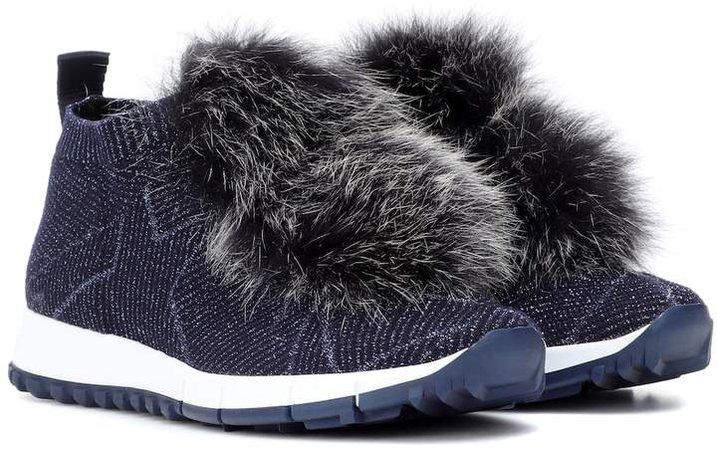Norway fur-trimmed sneakers