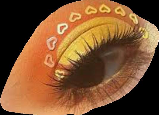 yellow aesthetic eye makeup freetoedit...