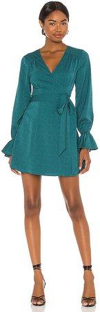 x REVOLVE Mini Wrap Dress