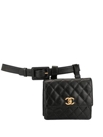 Brown Chanel Pre-Owned 1990s CC Belt Bag | Farfetch.com