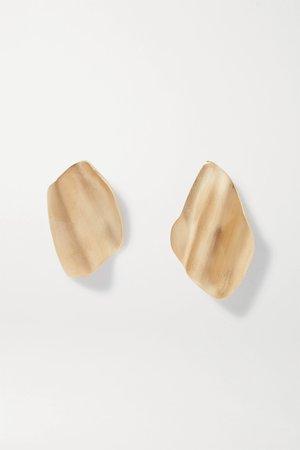 Gold Gold vermeil earrings | Completedworks | NET-A-PORTER