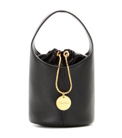 Miranda Micro leather bucket bag