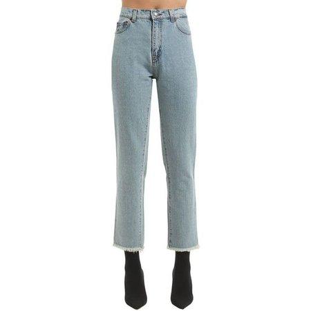 Magda Butrym Women Raw Cut Cotton Denim Jeans