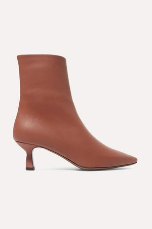 Ancistro Leather Ankle Boots - Tan