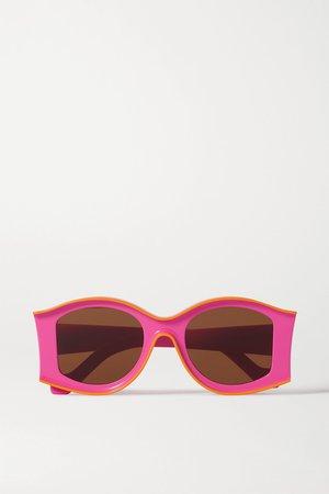 Pink + Paula's Ibiza round-frame acetate sunglasses | Loewe | NET-A-PORTER