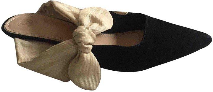Coco Black Suede Sandals