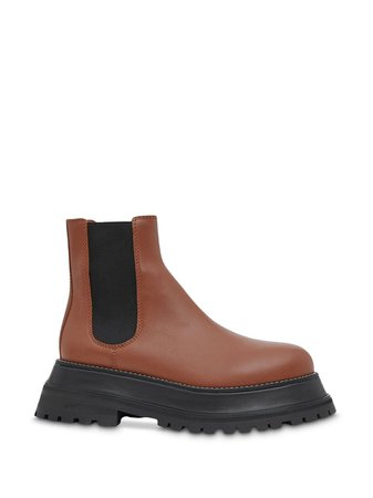 Burberry Leather Chelsea Boots $890 - Buy Online - Mobile Friendly, Fast Delivery, Price