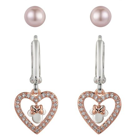 Minnie Mouse Rose Gold Earring Set | shopDisney