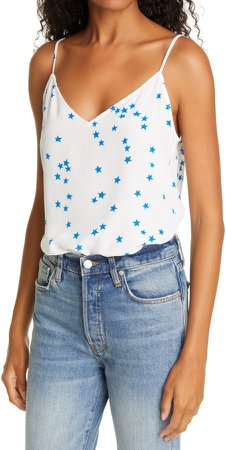 Layla Star Print Silk Camisole