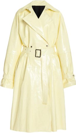 Boyarovskaya Belted Leather Trench Coat
