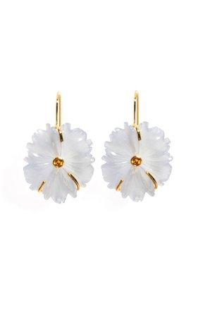 Chalcedony Bloom Earrings By Lizzie Fortunato | Moda Operandi