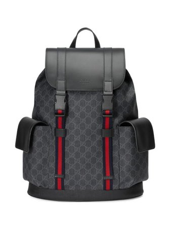 Shop black Gucci GG Supreme pattern backpack with Express Delivery - Farfetch