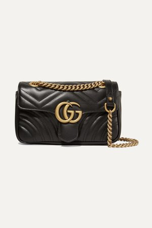 Black GG Marmont quilted leather shoulder bag   Gucci   NET-A-PORTER