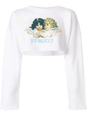 Fiorucci Blusa De Moletom Cropped Com Logo - Farfetch