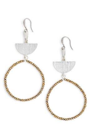 Treasure & Bond Etched Plate Beaded Earrings | Nordstrom