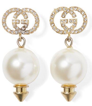 Gucci pearl drop earrings