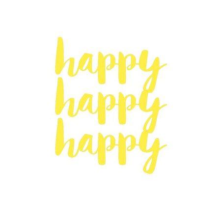 Happy Happy Happy Text